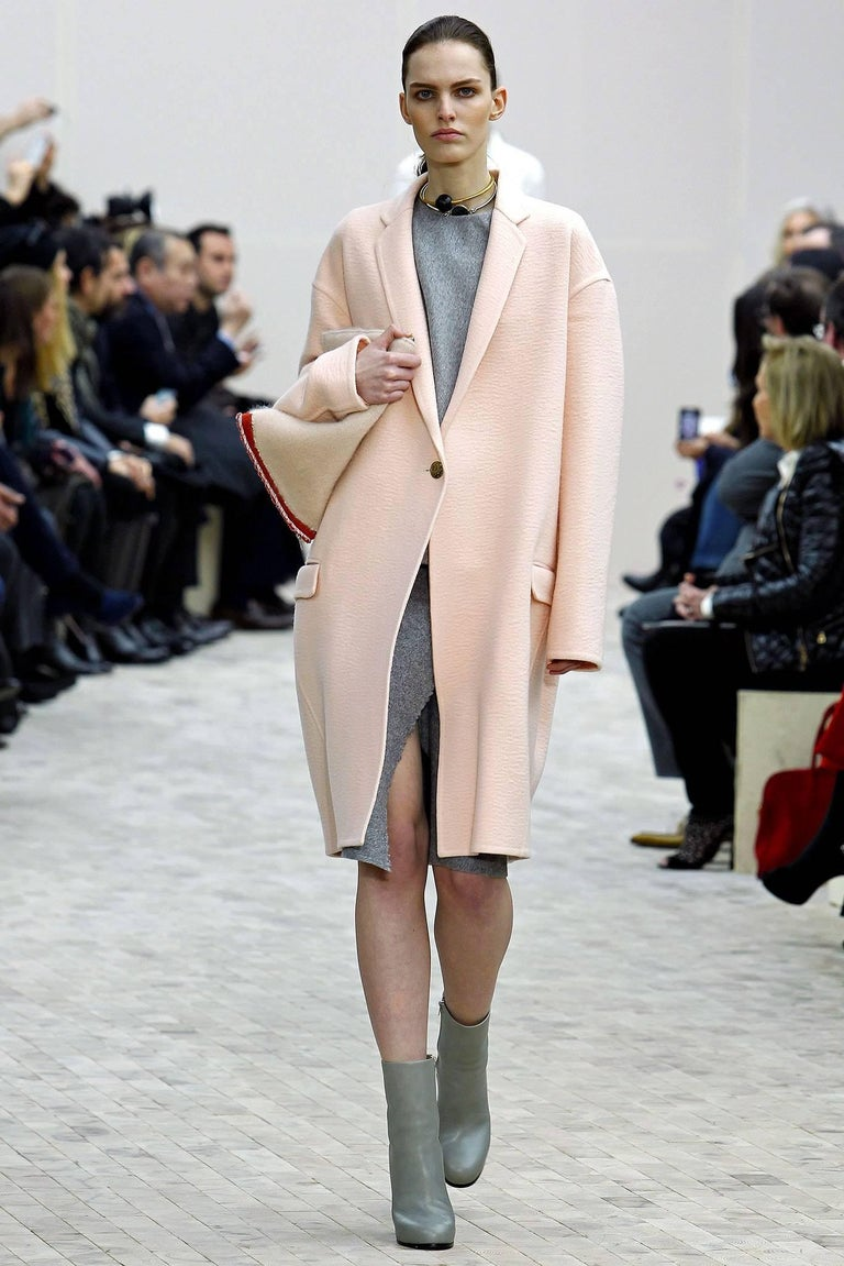 CELINE blush cashmere runway coat - 2013 10