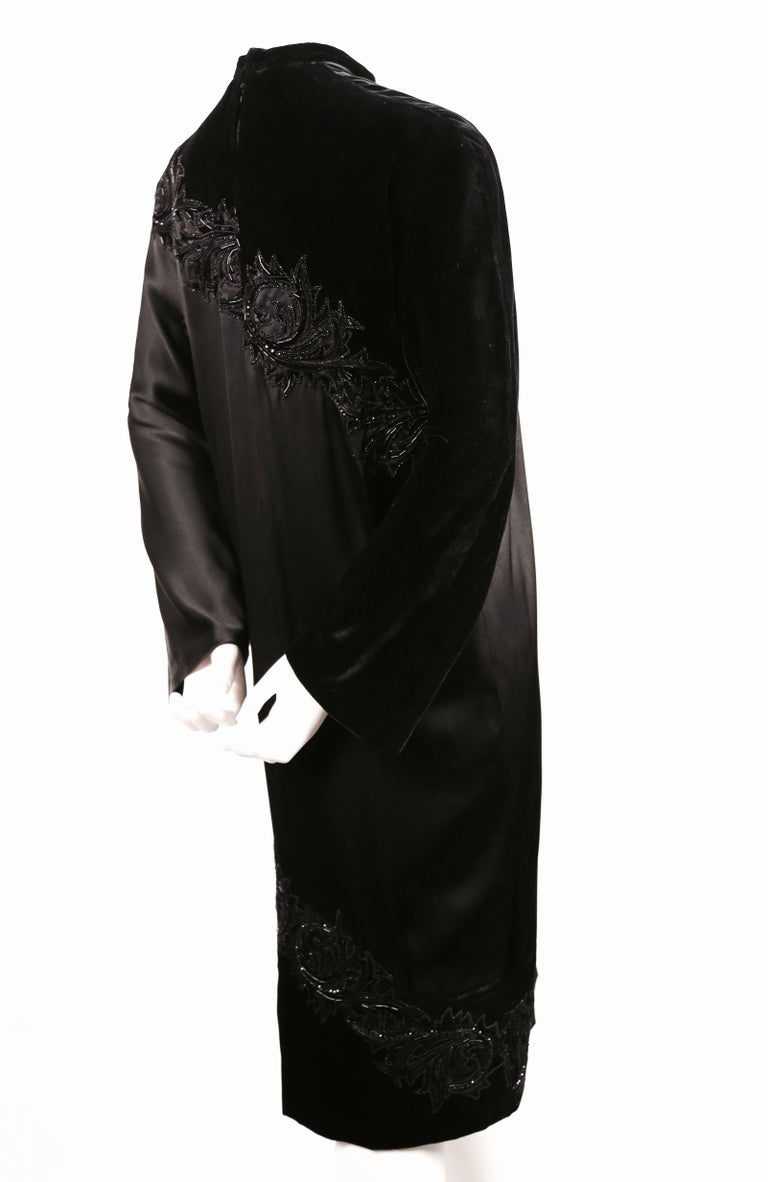 1960's PIERRE BALMAIN elaborately beaded silk and satin haute couture dress In Good Condition For Sale In San Fransisco, CA