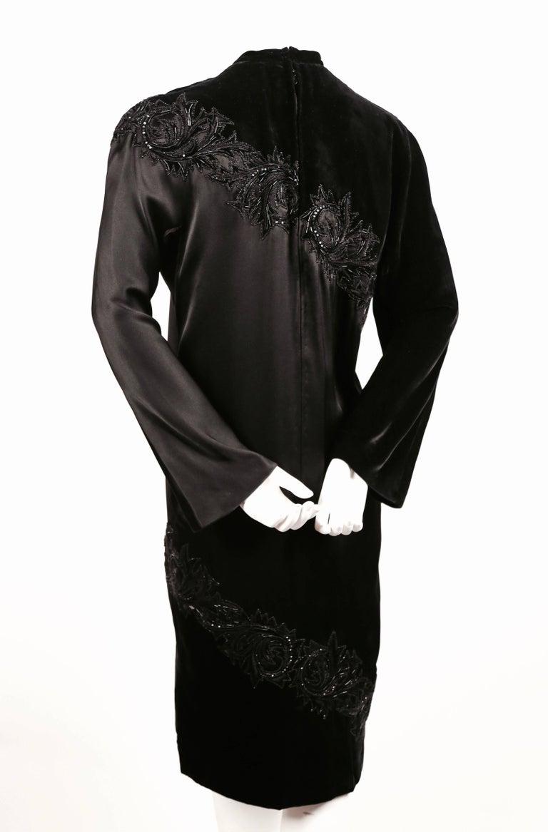 Women's 1960's PIERRE BALMAIN elaborately beaded silk and satin haute couture dress For Sale
