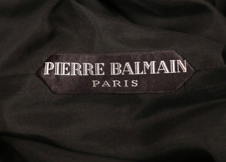 1960's PIERRE BALMAIN elaborately beaded silk and satin haute couture dress For Sale 1