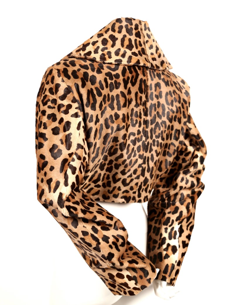 Women's 1991 AZZEDINE ALAIA leopard calf fur runway jacket  For Sale