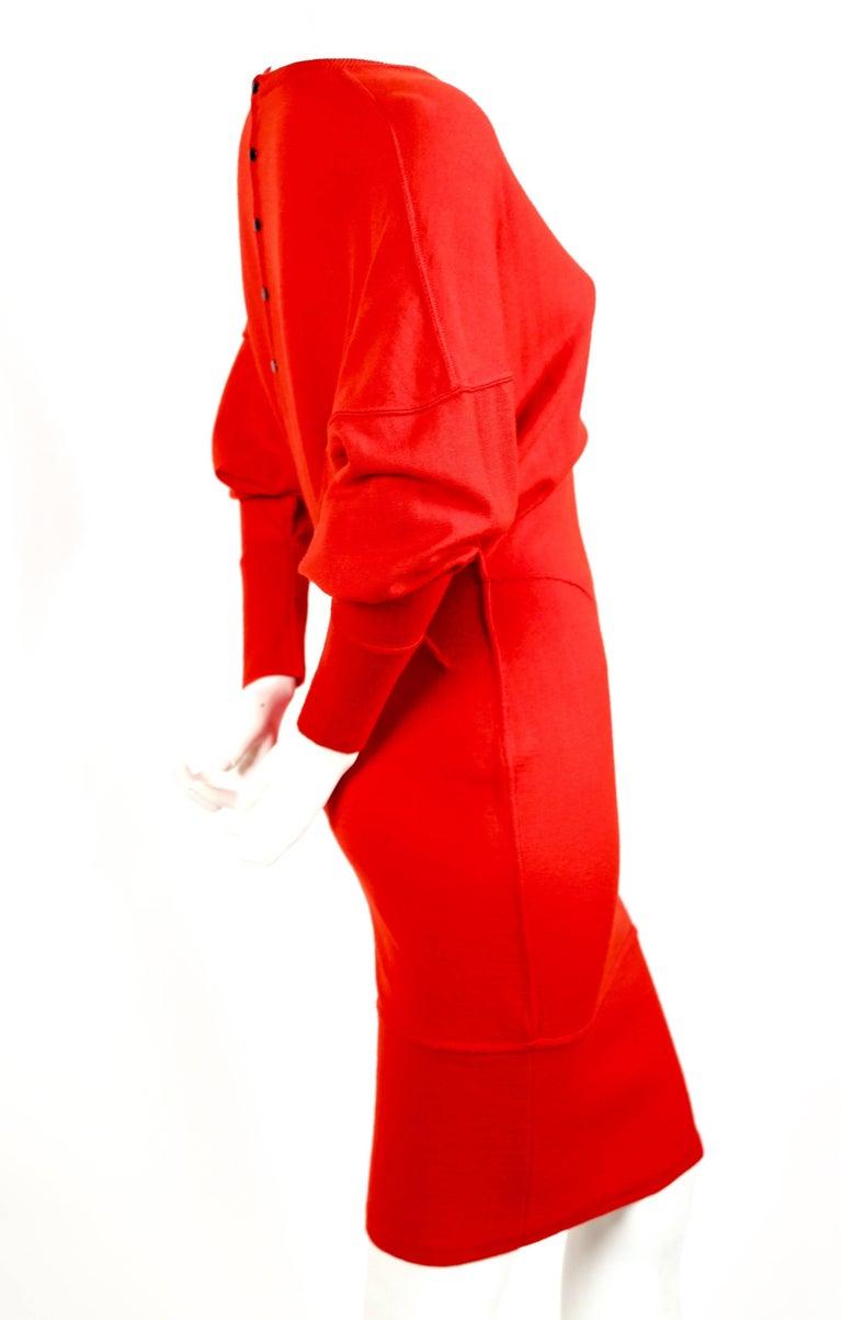 Red Azzedine Alaia red knit dress, 1980s