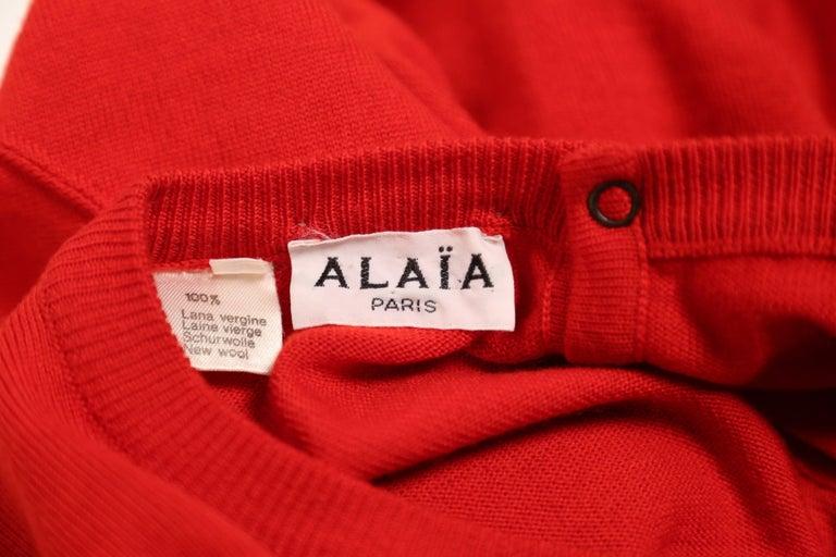 Azzedine Alaia red knit dress, 1980s  1