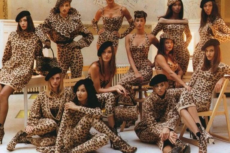 Azzedine Alaia oversized leopard V-neck tunic dress, 1991  For Sale 1