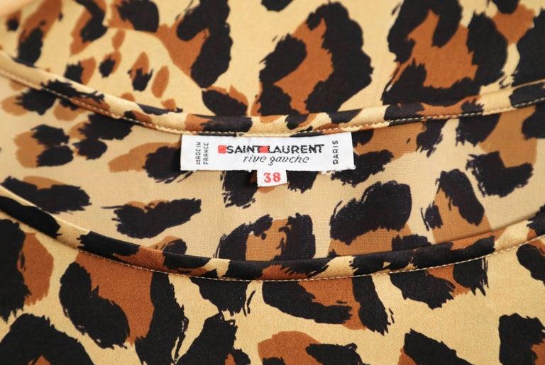 Women's or Men's 1986 YVES SAINT LAURENT silk leopard print top  For Sale