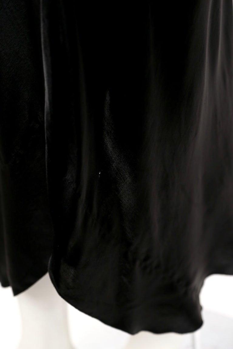 1970's SONIA RYKIEL black bias-cut layered silk dress For Sale 1