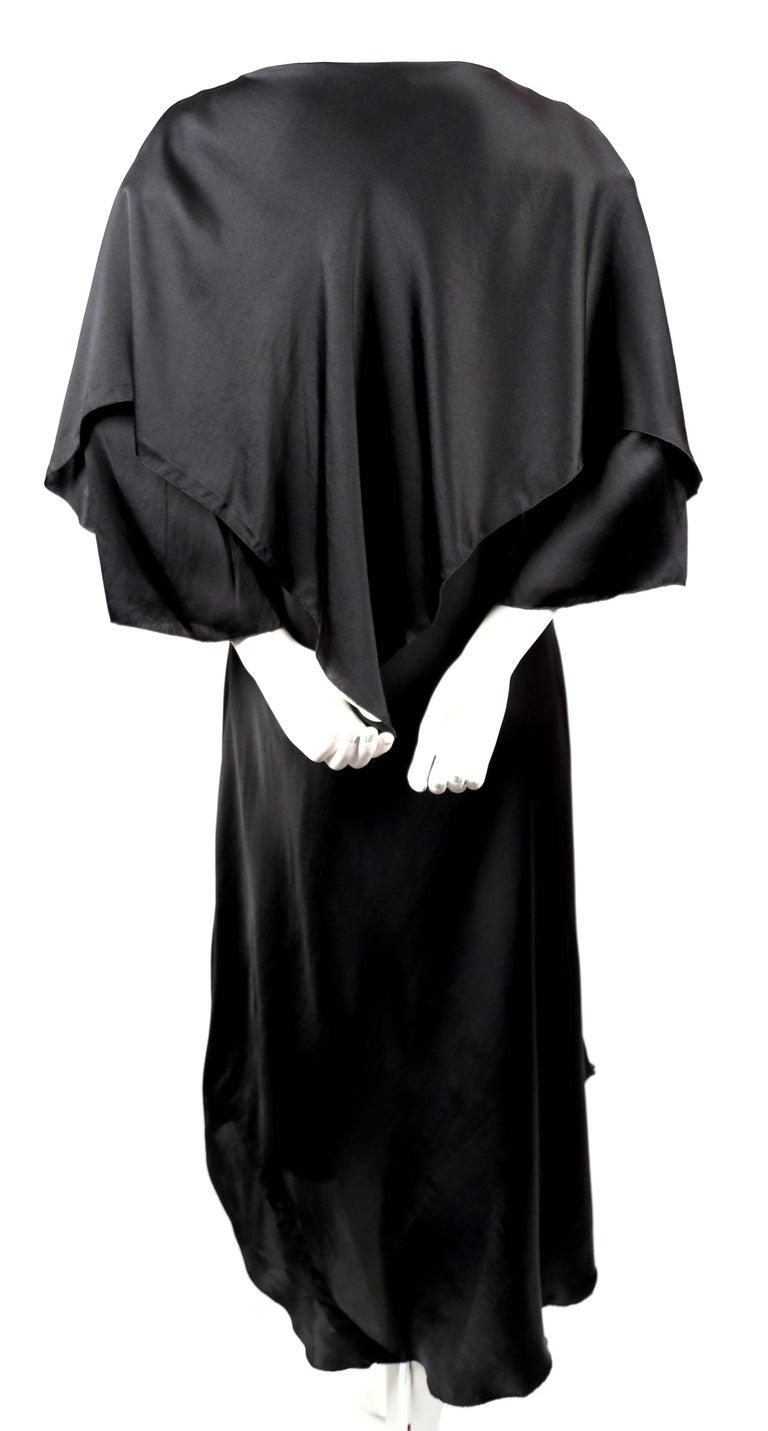 Women's 1970's SONIA RYKIEL black bias-cut layered silk dress For Sale