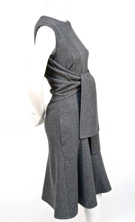 unworn CELINE grey cashmere runway dress with knotted 'sleeves' - fall 2013 4