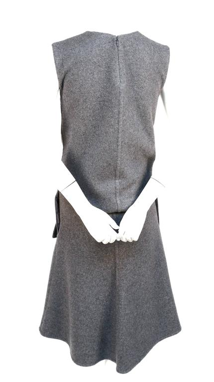 unworn CELINE grey cashmere runway dress with knotted 'sleeves' - fall 2013 6