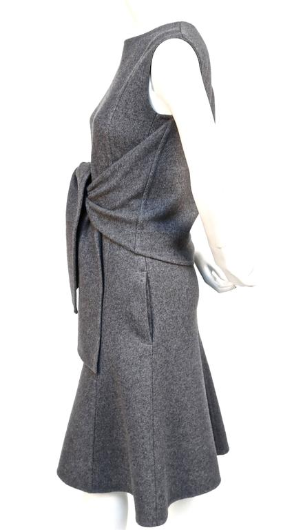 unworn CELINE grey cashmere runway dress with knotted 'sleeves' - fall 2013 5