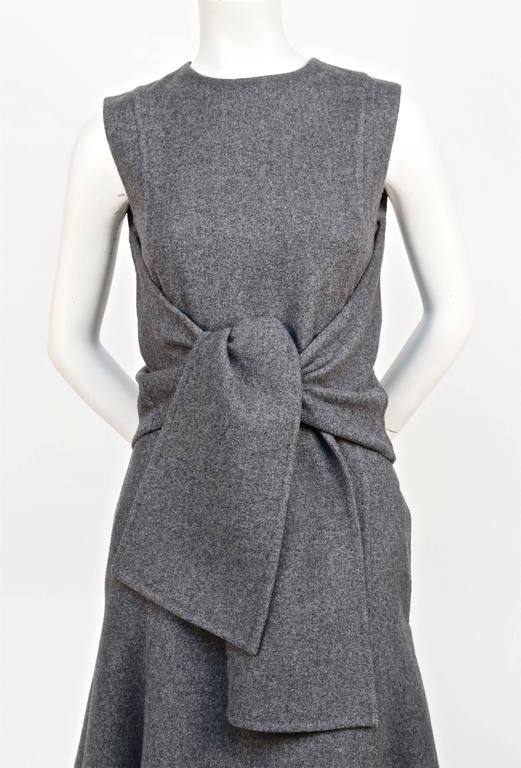 unworn CELINE grey cashmere runway dress with knotted 'sleeves' - fall 2013 3