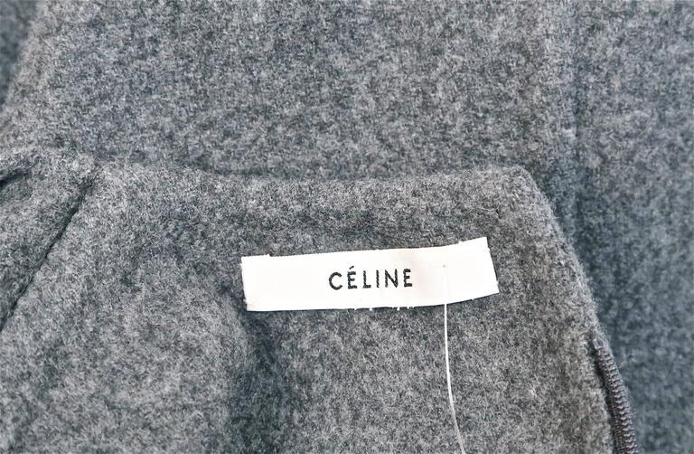unworn CELINE grey cashmere runway dress with knotted 'sleeves' - fall 2013 8