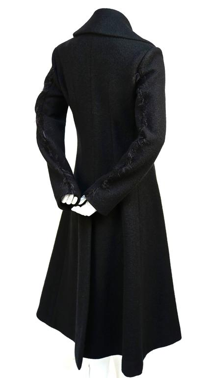 unworn CELINE black wool runway coat with asymmetrical buttons - fall 2014 4