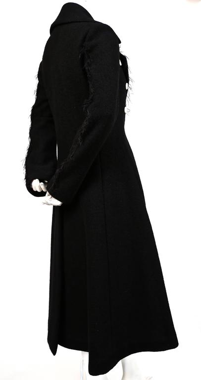 unworn CELINE black wool runway coat with asymmetrical buttons - fall 2014 In New Never_worn Condition For Sale In San Fransisco, CA