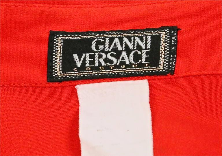 Iconic GIANNI VERSACE Bondage Harness silk blouse and leather skirt Fall 1992 7