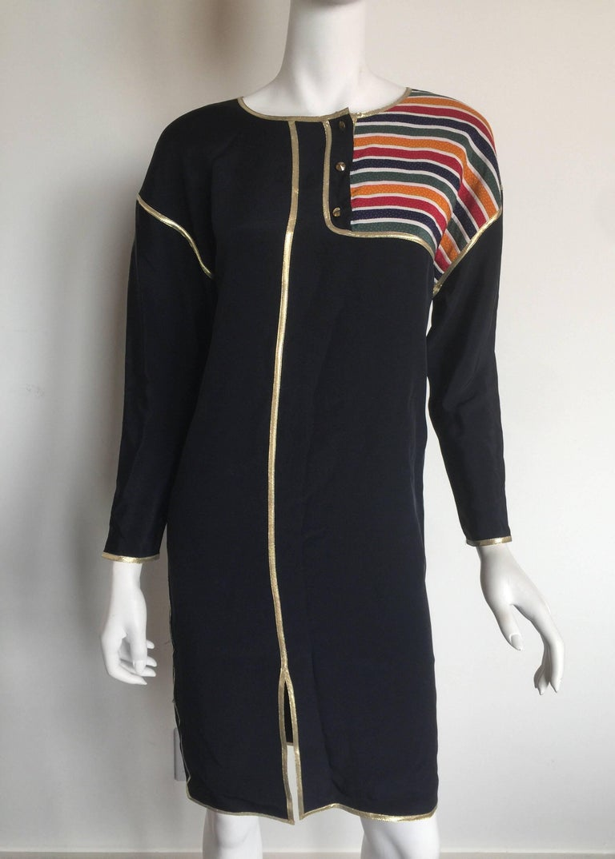 Geoffrey Beene Rainbow asymmetrical Stripe Dress 2