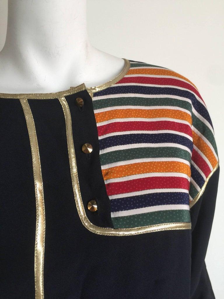 Geoffrey Beene Rainbow asymmetrical Stripe Dress 3