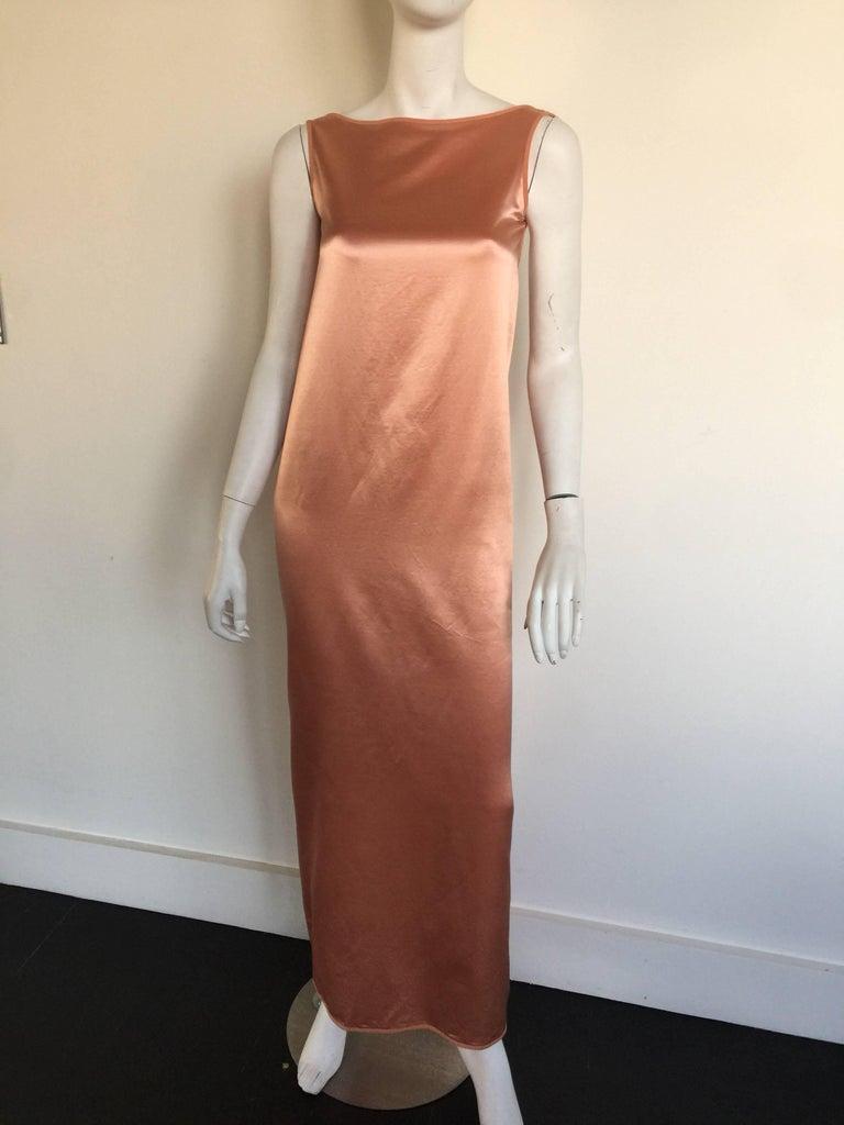 Isaac Mizrahi Blush Boat Neck Cowl Back Silk Slip Dress