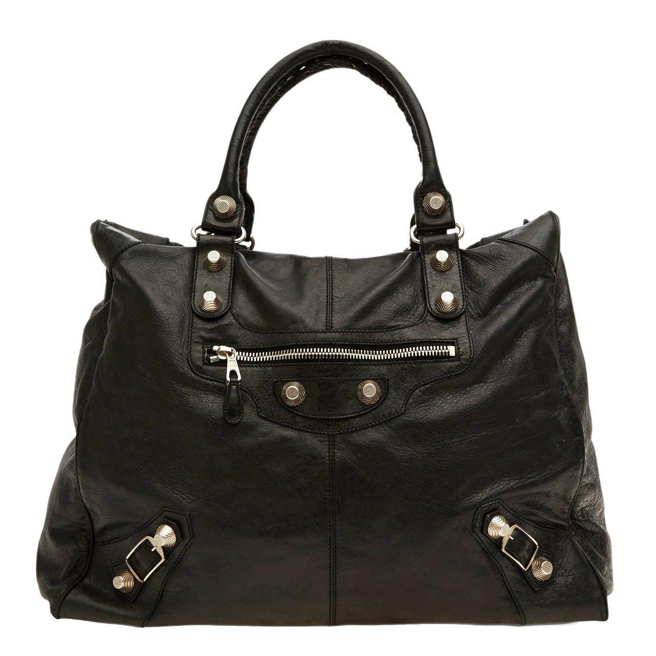 Balenciaga Weekender Giant Studs Handbag Leather sNk95xW