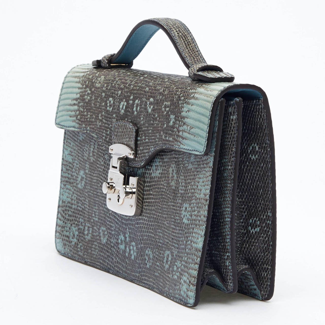 4be59637531 Women s Gucci Lady Lock Briefcase Clutch Python For Sale