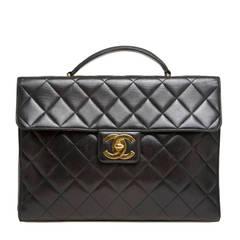 Chanel Vintage Briefcase Lambskin Large
