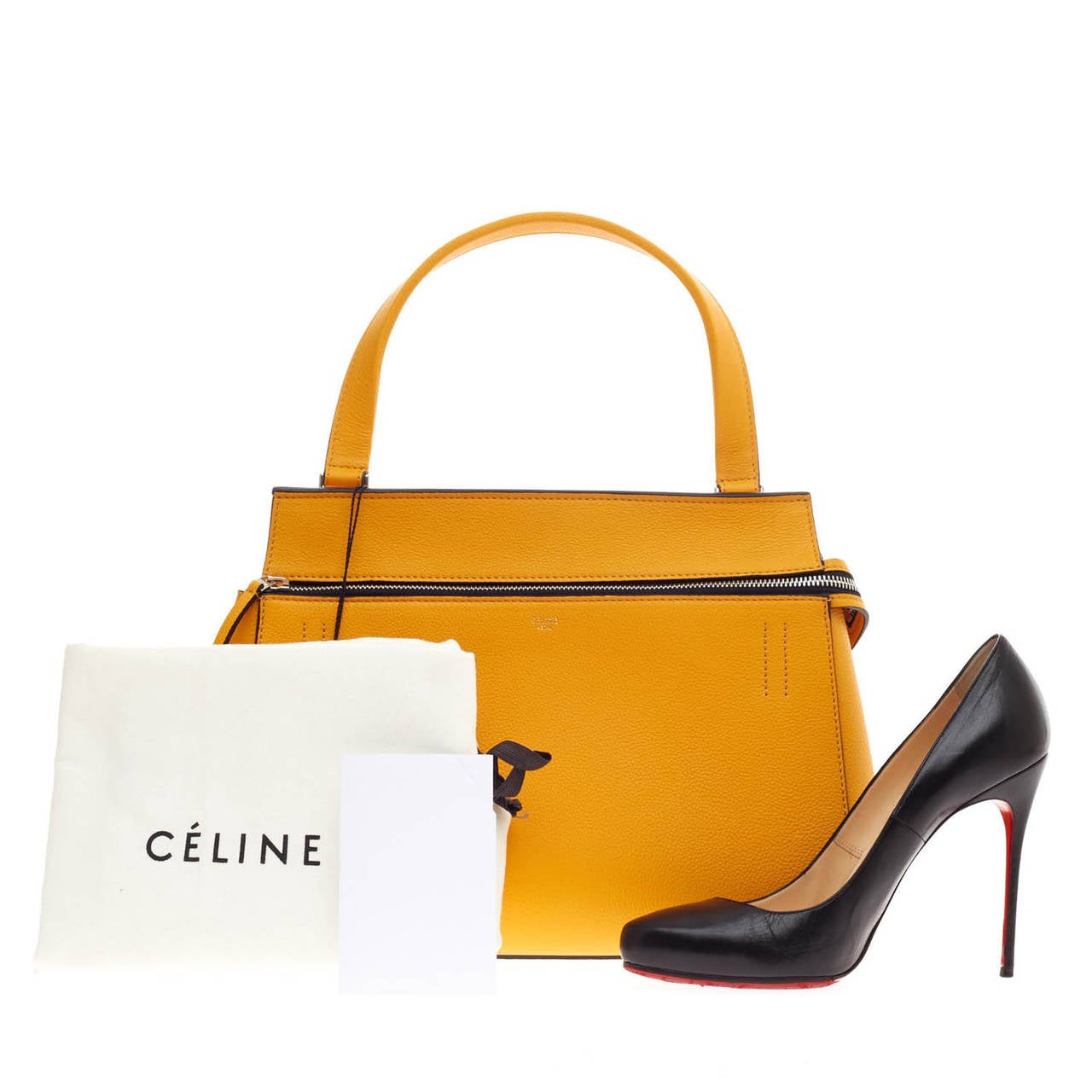 Celine Edge Bag Leather Small at 1stdibs