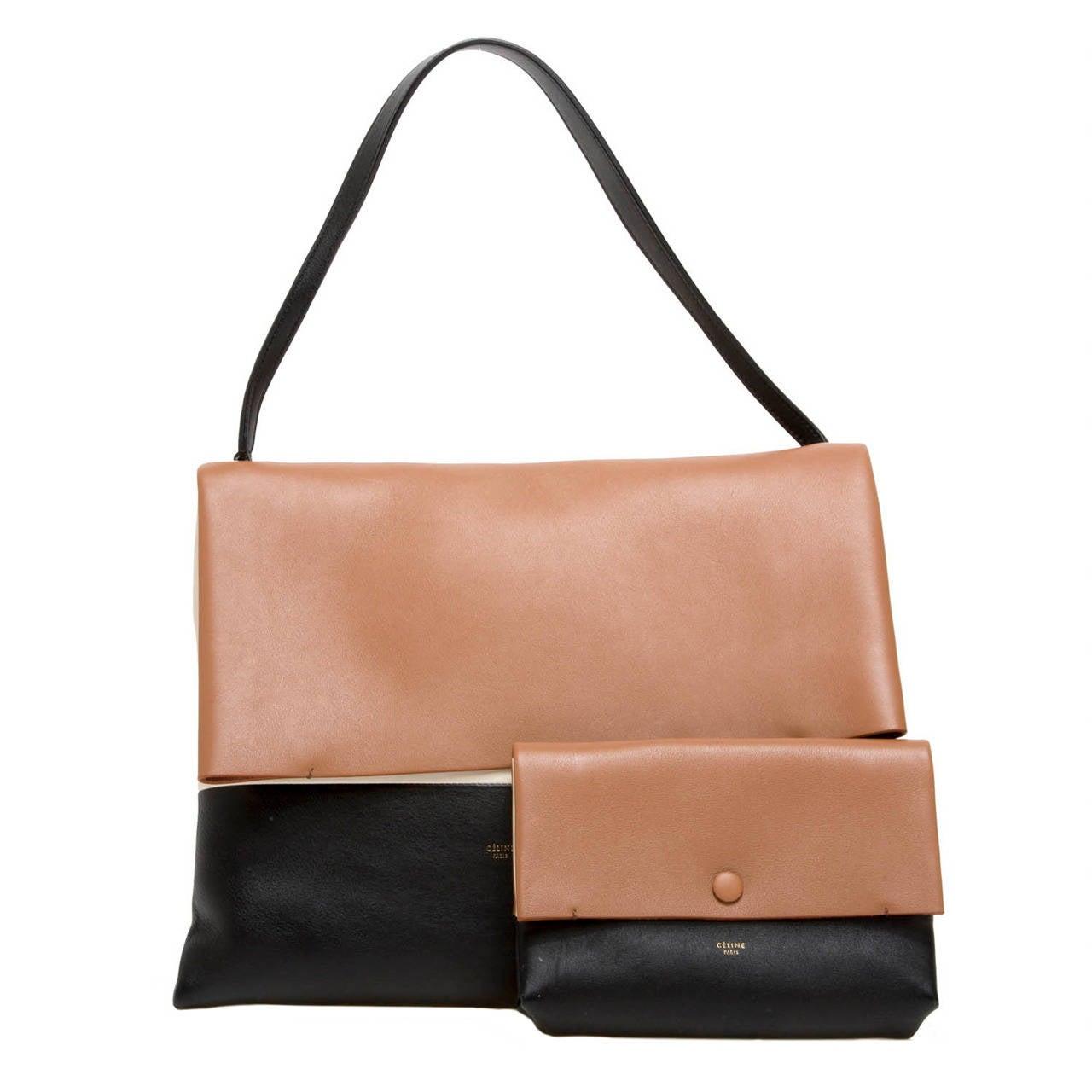 yellow celine bag - celine all soft tri-color tote, celine leather handbags