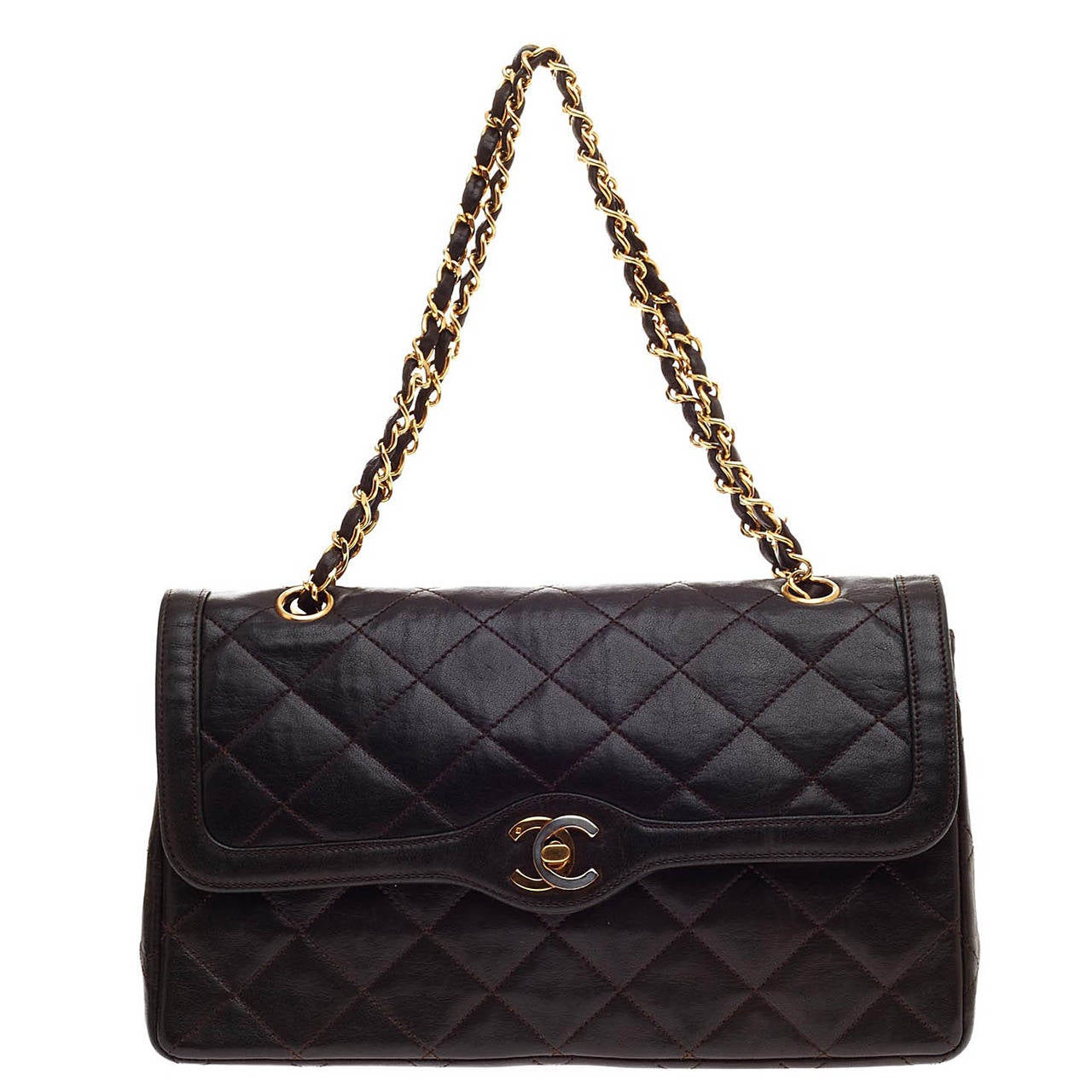 1b02fe88d59cf Chanel Vintage Flap Two Tone Hardware Quilted Lambskin Medium at 1stdibs