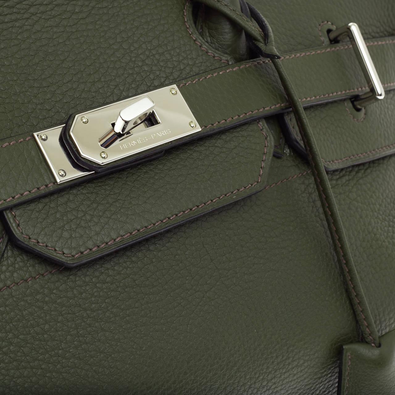 hermes bag sale - Hermes Birkin JPG Vert Olive Clemence with Palladium Hardware 42 ...