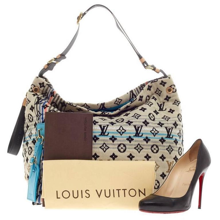 This Authentic Louis Vuitton Cheche Bohemian Monogram Jacquard Canvas Presented In The Brand S Spring Summer