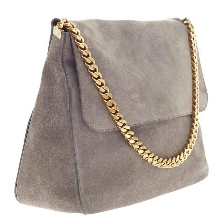 33d8a067b5 Celine Gourmette Shoulder Bag Suede Large at 1stdibs