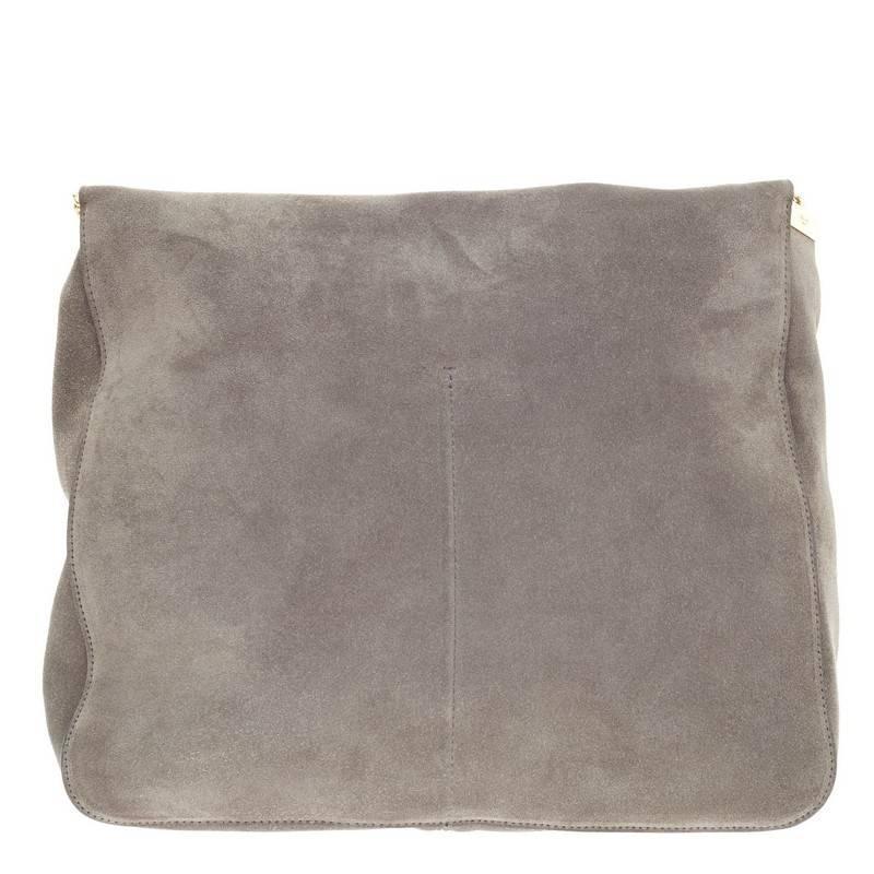 Celine Gourmette Shoulder Bag Suede Large at 1stdibs