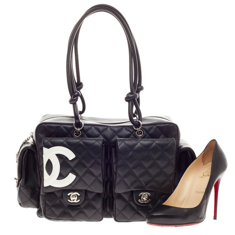 0d5172d688a8 Chanel Cambon Multipocket Reporter Quilted Lambskin Large at 1stdibs