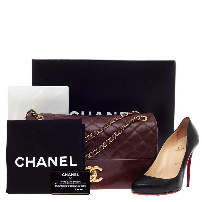1415491b843b Chanel Soft Elegance Flap Bag Distressed Calfskin Jumbo at 1stdibs