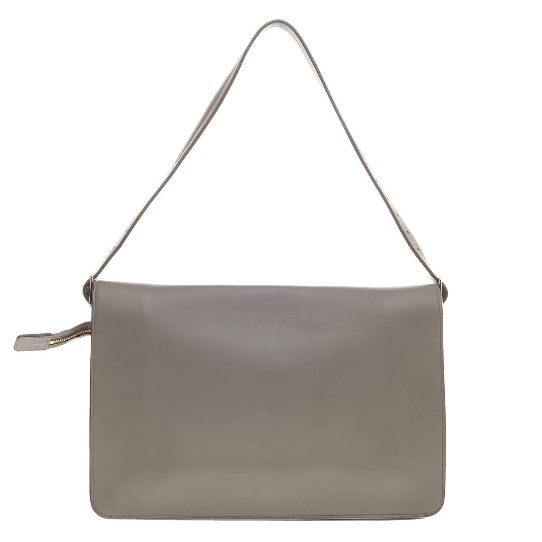 celine mini pink - Celine Clasp Foldover Shoulder Bag Leather Medium at 1stdibs