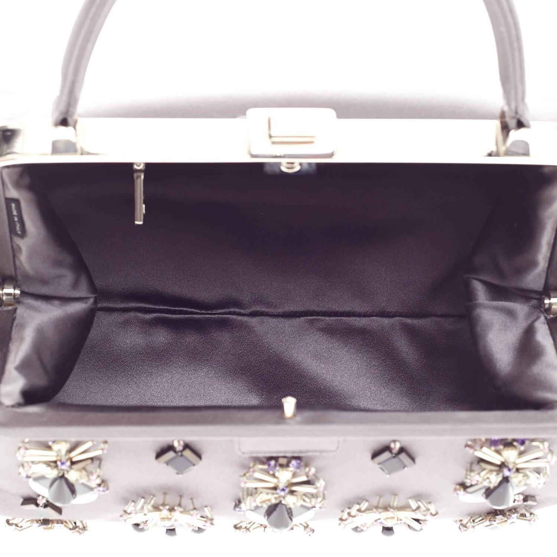 1b3dad57de4556 Prada Raso Ricamo Framed Doctor's Bag Jeweled Satin Medium at 1stdibs