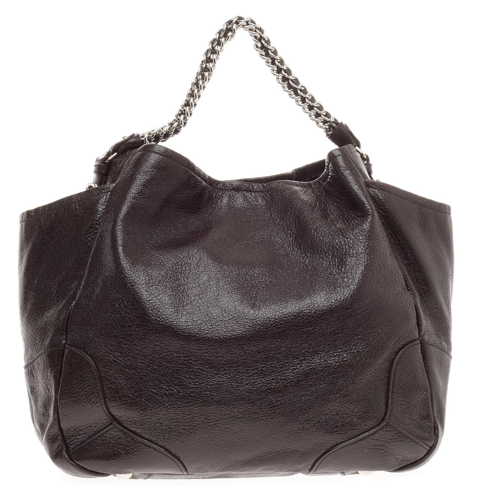 0181561506dc ... where to buy prada lux chain side pocket hobo cervo leather large at  1stdibs ed4da 157bf ...