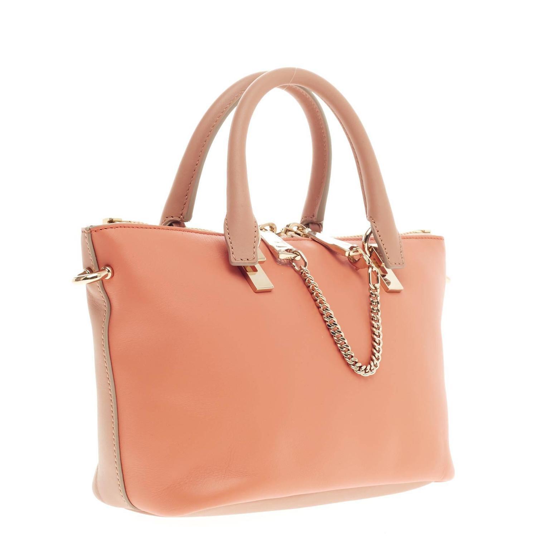 chloe baylee satchel bicolor leather mini