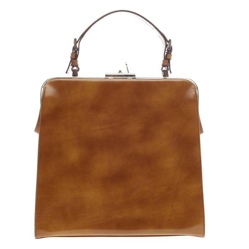 Prada Frame Handle Bag Spazzolato Leather Small at 1stdibs