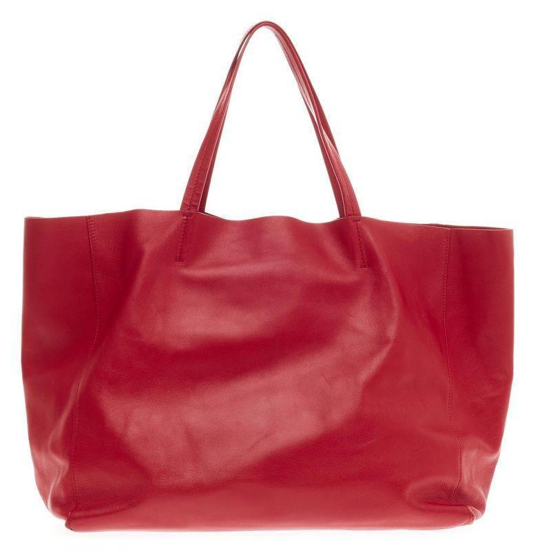 Celine Horizontal Cabas Tote Leather Large at 1stdibs