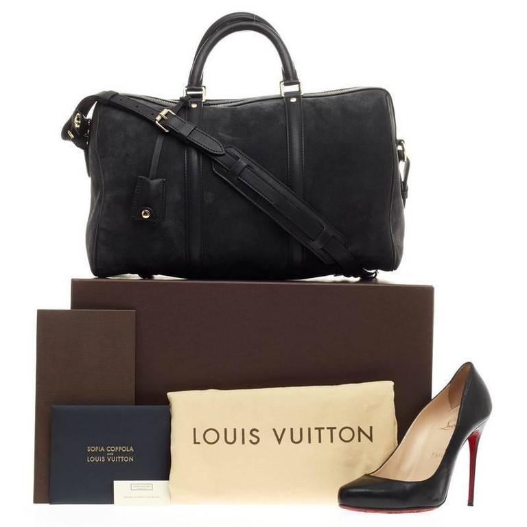 4e64ad53feb9 Louis Vuitton Sofia Coppola SC Bag Suede Calf Leather MM In Good Condition  For Sale In