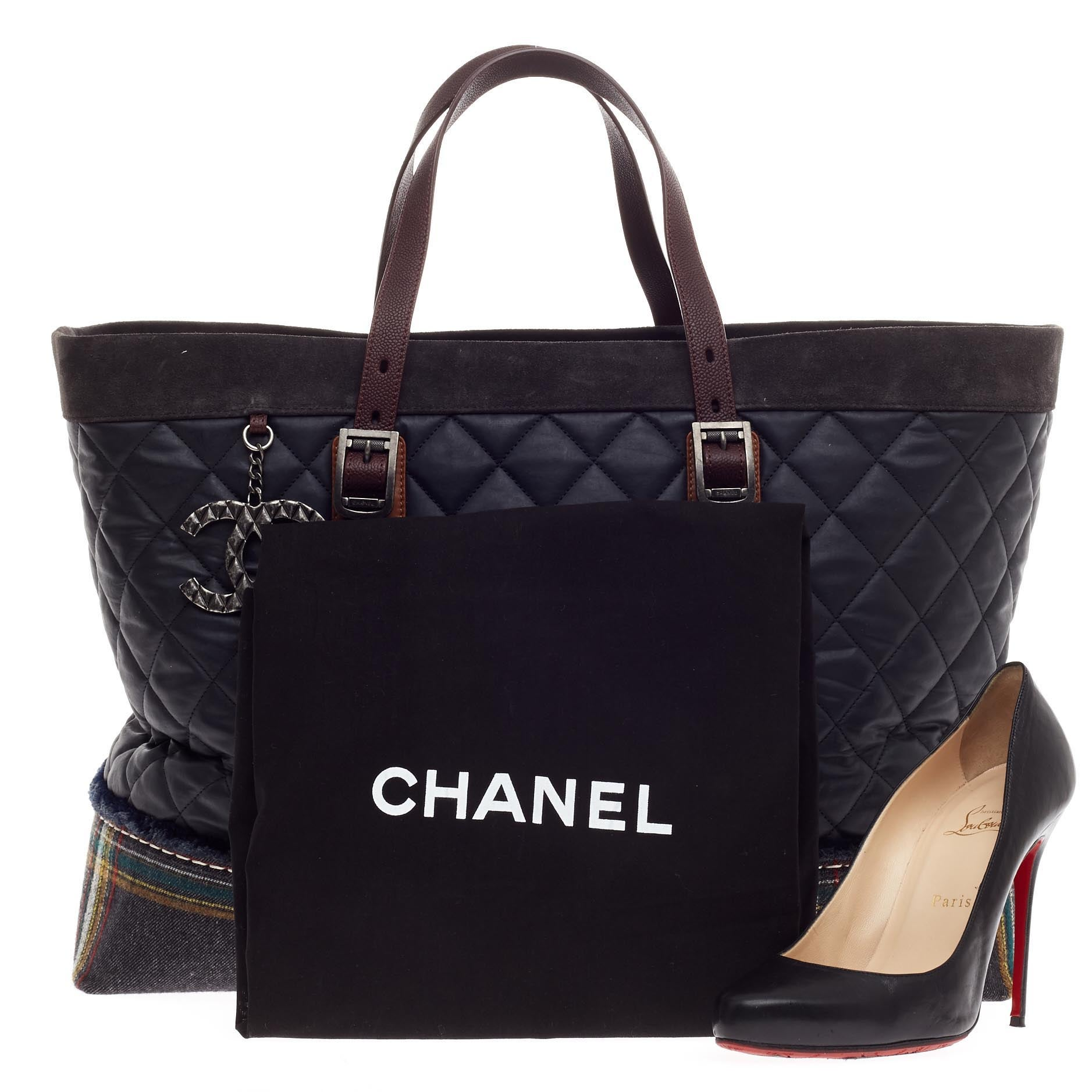 679015c98063 Chanel Paris-Edinburgh Tote Mixed Leather with Flannel at 1stdibs