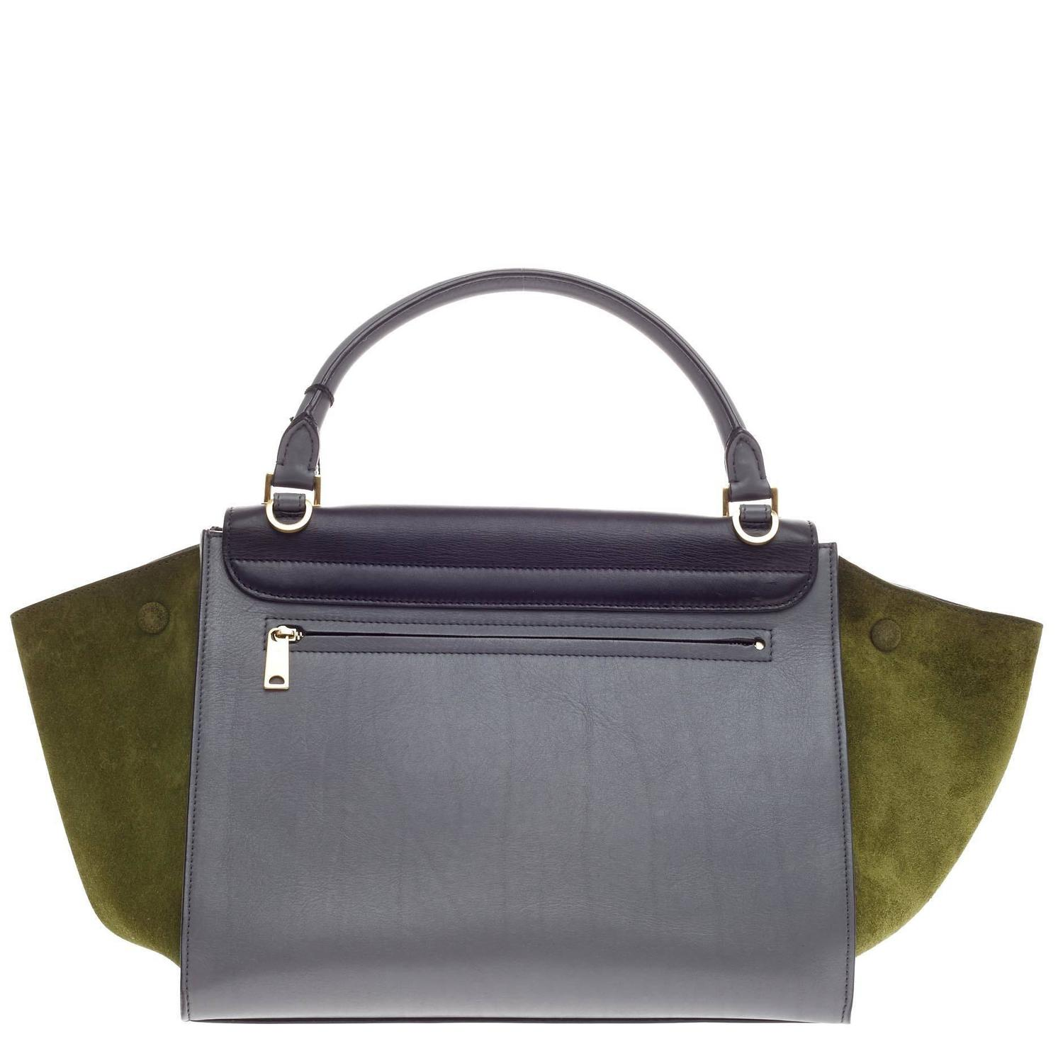 Celine Trapeze Tricolor Leather Medium at 1stdibs