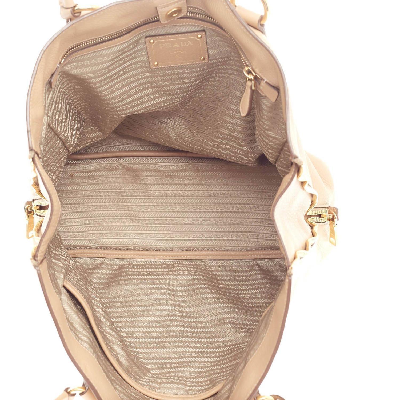 prade handbags - Prada Side Zip Shopper Tote Vitello Daino Large at 1stdibs