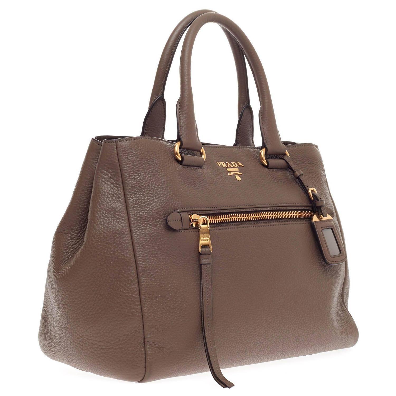 prada bags replica - Prada Front Pocket Convertible Tote Vitello Daino Medium at 1stdibs
