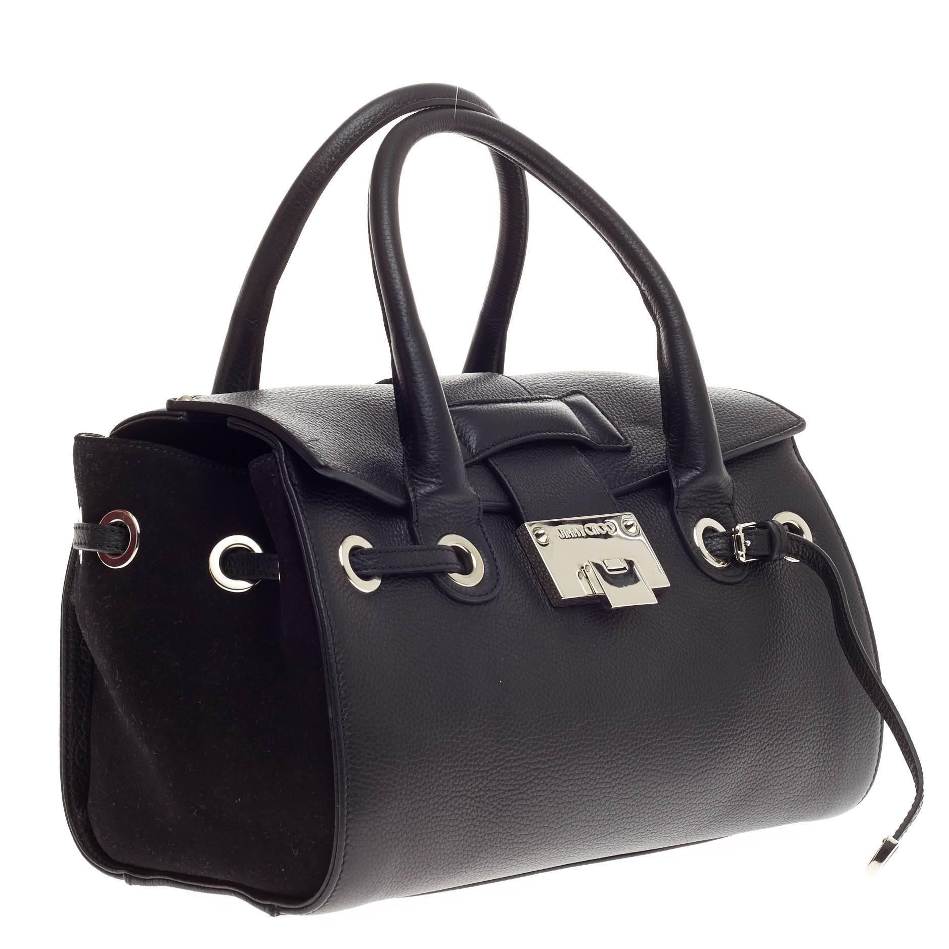 7bbaf6c1c624 Jimmy Choo Rosalie Convertible Satchel Leather Small at 1stdibs
