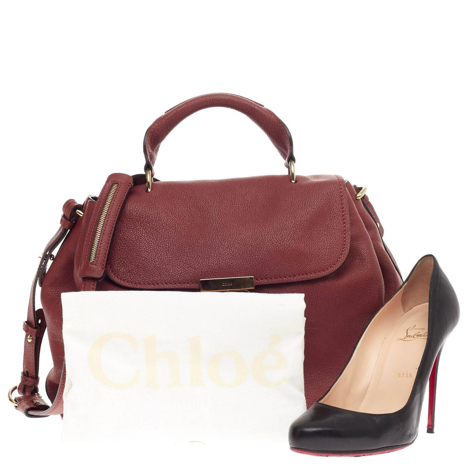 66ccbd6dcbd Chloe Elsie Convertible Satchel Leather Medium at 1stdibs