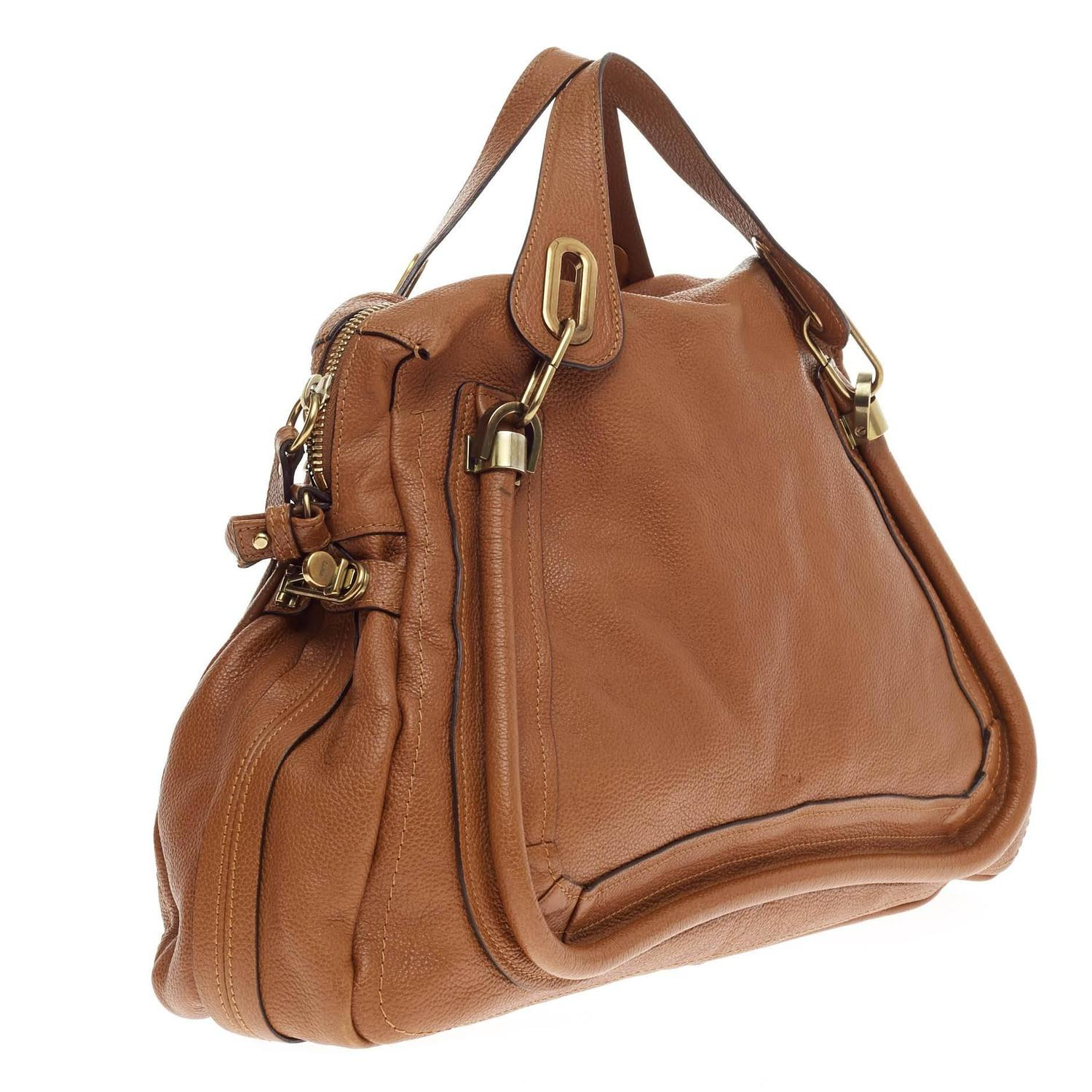 Chloe Paraty Top Handle Bag Leather Large at 1stdibs