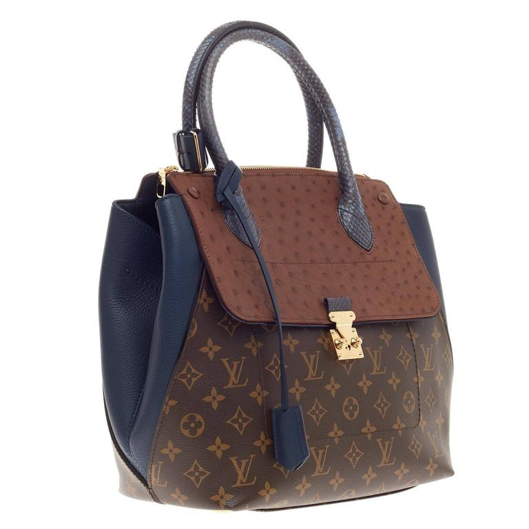 72d288a67468 Black Louis Vuitton Majestueux Tote Monogram Canvas and Exotics MM For Sale