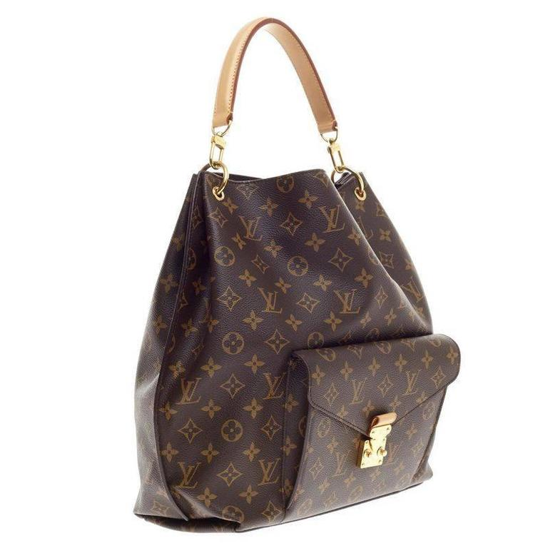 Black Louis Vuitton Metis Hobo Monogram Canvas For